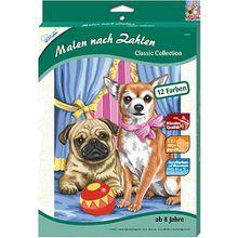 Malen nach Zahlen Classic klein Mops & Chihuahua