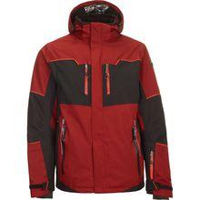 KILLTEC Skijacken Mirton - Funktionsjacke mit abzippbarer Kapuze und Schneefang dunkelrot