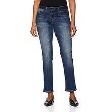 TOM TAILOR Damen Jeans Straight Alexa with Belt, Blau (Stone Blue Denim 1095), W31/L30 (Herstellergröße: 31)