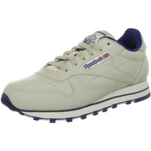 Reebok Classic Leather, Damen Sneakers, Beige (Ecru/NAV), 40 EU (6.5 Damen UK)