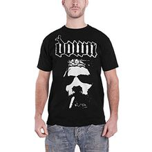 Down Smoking Jesus Face Official Mens New Black T Shirt