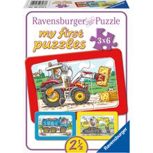 Ravensburger my first puzzles - Rahmenpuzzle Bagger, Traktor und Kipplader