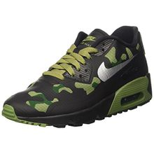 Nike Unisex-Kinder Air Max 90 NS Se GS Sneakers, Schwarz (Black/Reflect Silver/Palm Green/Gorge Green), 38 EU