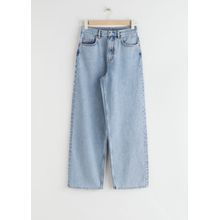 High Rise Wide Leg Jeans - Blue