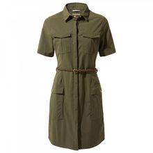 Craghoppers - Women's Nosilife Savannah Dress - Kleid Gr 10;12;14;16;18;20 oliv/braun;beige/weiß