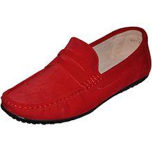 Mokassins, Innenfutter Leder G001, Rot - Rot - rot - Größe: 42