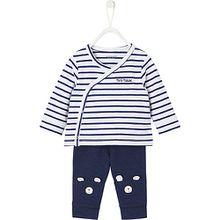 Baby Set Wickelshirt + Leggings  blau Jungen Baby