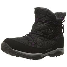 Columbia Loveland Shorty Omni-Heat DamenSchneestiefel, Schwarz (Black/Bright Plum 010), 39.5 EU, BL1744