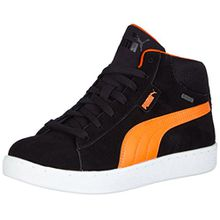 Puma 1948 Mid GTX Jr, Unisex-Kinder Hohe Sneakers, Schwarz (Black-Vermillion Orange 01), 39 EU (6 Kinder UK)