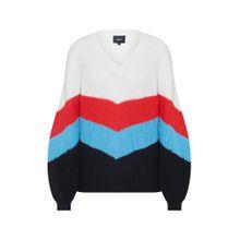 OBJECT Pullover 'MADDIE' rot / schwarz / weiß