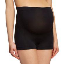 Noppies Damen Seamless short Umstandsunterhose, per pack Schwarz (Black 06), 44 (Herstellergröße: XL/XXL)