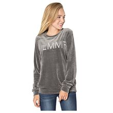 Rock Angel Damen Nicki-Pullover FEMME | Sweatshirt | Sweat-Pullover mit Print in Grau & Rosé middle-grey S