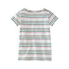 Shirt , Organic Cotton weiß-kombi Mädchen Kinder