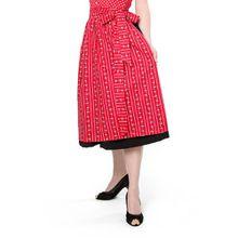 trachtige Dirndlschürze rot Baumwolle Trachtenschürze, 69 cm, Midi Schürze, Trachtenmode für Damen,Evi