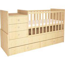 Kombi-Kinderbett Simple 1000 mit Kommode, natur, 1226.30