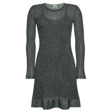 M Missoni Knielanges Kleid aus Lochstrick im Metallic-Look