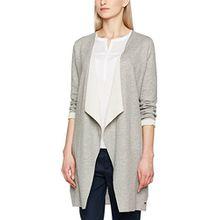 TOM TAILOR Denim Damen Sweatshirt Bonded Sweatjacket, Grau (Cement Grey Melange 2707), 38 (Herstellergröße:M)