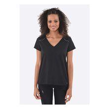 Kaporal T-Shirt Vrac Cloud mit V-Ausschnitt T-Shirts schwarz Damen