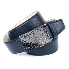 Anthoni Crown Ledergürtel für Jeans Ledergürtel schwarz Herren