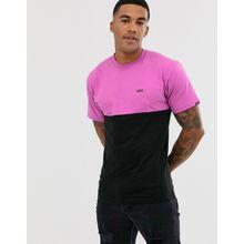 Vans - Rosa T-Shirt mit Farbblockdesign und kleinem Logo - Schwarz