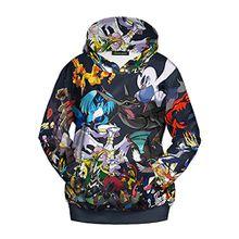 Ecollection® Damen Unisex 3 Digital Print Fashion Hoodies Sweatshirts Tops (S /M, 4)