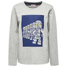 LEGO WEAR Shirt 'Glow in the dark' dunkelblau / gelb / graumeliert