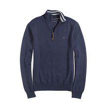 Tommy Hilfiger Pullover Herren 1/2 Zip Pullover, Men's Sweater, Cotton, Size: Medium