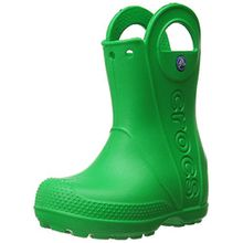 crocs Handle It Rain Boot, Unisex - Kinder Gummistiefel, Grün (Grass Green), 23/24 EU