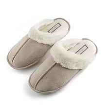 Hausschuhe Damen Pantoffeln Damen Hausschuhe 38 39 40 Hausschuhe Damen Grau DS1 (EU39-40-41, A)