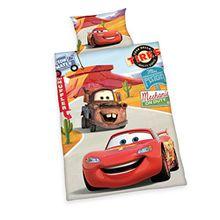 Herding 2429060063412 Bettwäsche Disney's Cars, Kopfkissenbezug, 40 x 60 cm und Bettbezug, 100 x 135 cm, renforce
