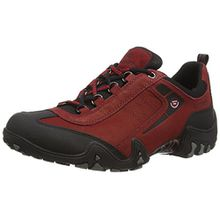 Allrounder by Mephisto Fina-Tex Rubber 1/G.Nubuk 48, Damen Sneakers, Rot (Black/Mid Red), 39 EU (5.5 Damen UK)