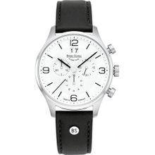 Bruno Söhnle Uhr 'Padua Chrono' schwarz / silber / weiß