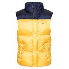 Tommy Jeans Steppweste dunkelblau / gelb