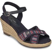 Tom Tailor Wedges blau