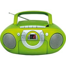 Radio-Kassettenspieler mit CD-Spieler grün