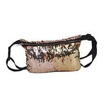 Bodhi2000® Damen Mode Hüfttaschen Pailletten Make-Up Tasche Laufen Reisen Wandern Fanny Pack Gürteltaschen
