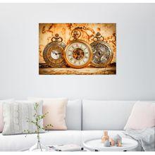 Posterlounge Wandbild »Drei alte Uhren«
