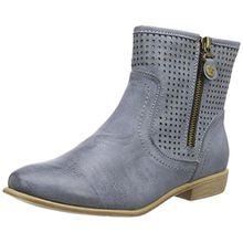 Rieker Y2565, Damen Halbschaft Stiefel, Blau (azur/12), 40 EU (6.5 Damen UK)