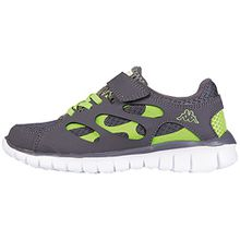 Kappa Unisex-Kinder Fox Light Kids Low-Top, Grau (1633 Grey/Lime), 28 EU
