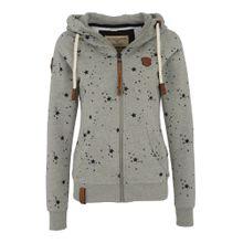 Naketano Sweater 'Schluckischluckischlucki' graumeliert / schwarz
