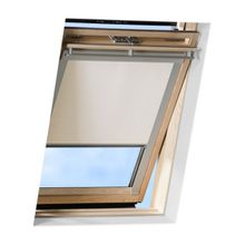 VICTORIA M Dachfensterrollo passend für Velux Dachfester / verdunkelndes Rollo / GPL 308, creme