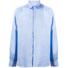 Karl Lagerfeld Klassisches Leinenhemd - Blau
