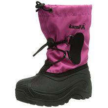 Kamik SOUTHPOLE3, Unisex-Kinder Warm gef�tterte Schneestiefel, Pink (MAG), 35 EU (3 US)