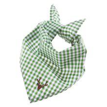 BONDI Trachtentuch mit Hirsch-Stick grün