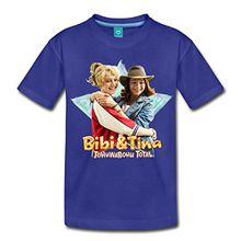 Spreadshirt Bibi Und TinaTohuwabohu Total Freundinnen Kinder Premium T-Shirt, 134/140 (8 Jahre), Königsblau