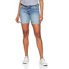 TOM TAILOR Damen Alexa Bermuda Denim Pants Stan, Blau (Mid Stone Wash Denim 1052), 28