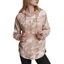 Urban Classics TB1724 Ladies Oversized Camo Hoodie - Camouflage Kapuzenpullover für Damen im angesagten Boxy Cut - Farbe rose camo, Größe XS
