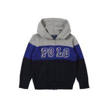 POLO RALPH LAUREN Sweatshirt 'COTTON-LS FZ' blau / graumeliert / schwarz