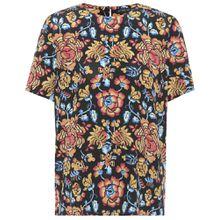 Bedrucktes T-Shirt aus Seide