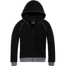 Scotch & Soda Shrunk Jungen Sweatjacke Club Nomade Hooded Zip Through Sweat, Schwarz (Black 06), 176 (Herstellergröße: 16)
